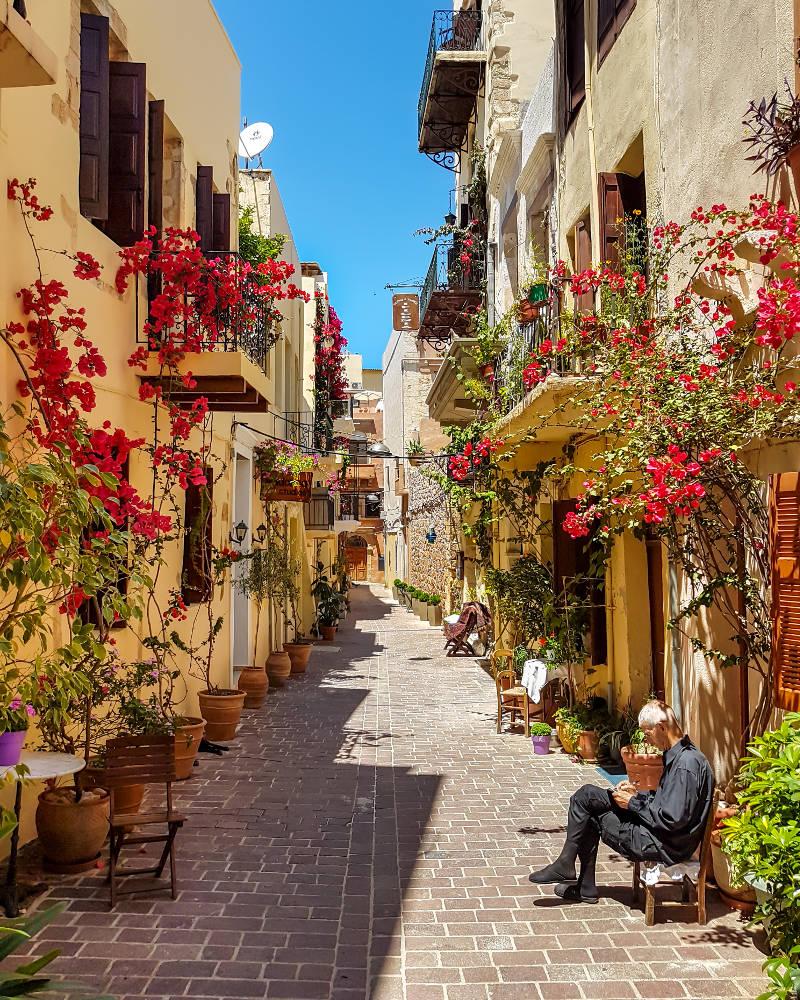 ciudad vieja en Chania