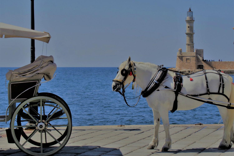 paseo por el puerto de Chania