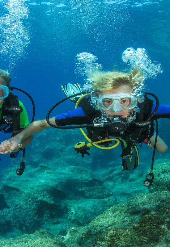 try scuba in Crete